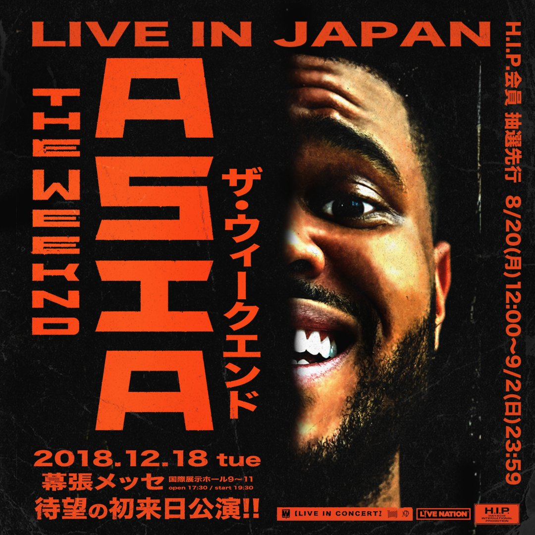 THE WEEKND ASIA LIVE IN JAPAN